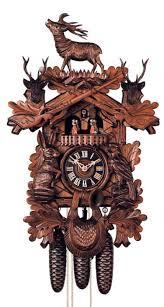 German Clocks Clockway 25in Deer U0026 Hunting Style Rifles U0026 Animals German Black