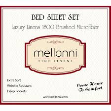 Sheets That Don T Wrinkle Bed Sheet Set California King Mellanni Fine Linens