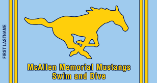 memorial mustangs custom swim team towels for mcallen memorial swim and dive