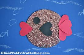 recycled cd fish kid craft