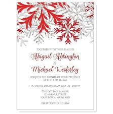 snowflake silver wedding invitations at artistically invited