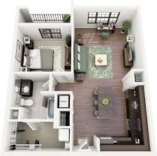 small 1 bedroom house plans awesome 3d apartment floor plans photos liltigertoo