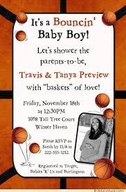 basketball baby shower bouncin basketball baby shower invitation boy court