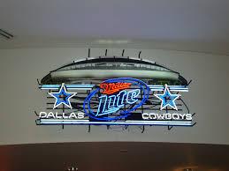 miller lite dallas cowboys neon sign nfl teams neon light texas