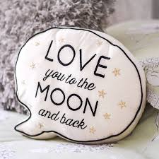 you to the moon and back speech cushion by letteroom
