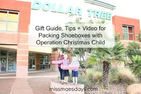 gift guide tips video for packing shoeboxes with operation