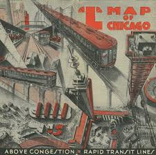 Chicago Elevated Train Map by Keeping Everyone In The Loop 50 Years Of Chicago U201cl U201d Graphics