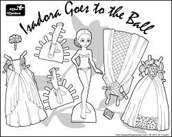 52 mini maidens paper dolls images black