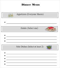 sample menu template 29 download in pdf psd word