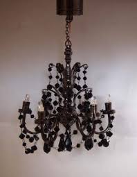 Miniature Chandelier 6 Arm Black Crystal Chandelier Battery Led Mdhc30 178 99