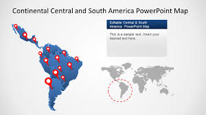 South And Central America Map by South America Map Templates For Powerpoint