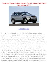 chevrolet captiva sport service repair manual by heidigarris issuu