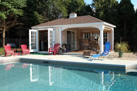 home plan backyard guest cottage plans pool house designs design