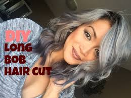 diy long bob haircut tutorial youtube