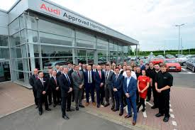 audi dealership exterior lookers opens one of the largest audi showrooms in europe car