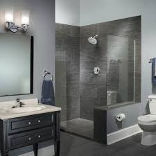 Contemporary Bathroom Paint Stencils For Walls Contemporary Bathroom With Black Vanity