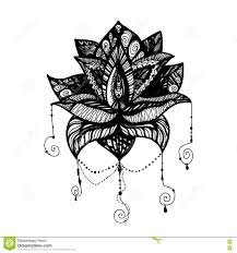 Fleur De Lotus Tattoo by Fleur Lotus Tattoo Illustration Stock Image 80561669