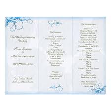 personalized wedding programs free printable church program template hydrangea flourish