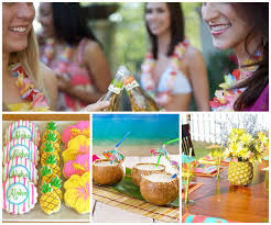 themed bachelorette party oubly bachelorette party ideas luau oubly