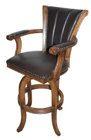 Bar Stool With Back And Arms with Wood U0026 Wooden Swivel Bar Stools