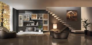 Room Stairs Design Attractive Design Living Room With Stairs Home Interior