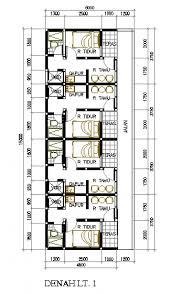 design interior rumah petak desain rumah petakan di lahan 6x15 m2 rumah kontrakan pinterest