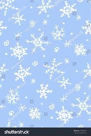 seamless pattern sketch snowflakes on blue stock vector 719930476