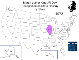 Timeline Maps The Timeline Of Passage Of Martin Luther King Jr Day U2013 Mci Maps