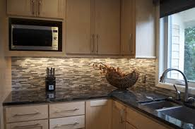 tiles backsplash design kitchen cabinets layout mixed travertine