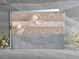 vintage wedding guest book wedding guestbook grey and wedding guest book lace