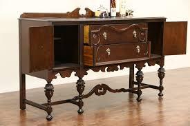 sold english tudor 1920 antique walnut sideboard server or