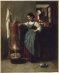 servante de cuisine file la fontaine en cuivre interieur de cuisine dit servante