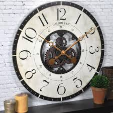 firstime 27 in multi color oversized carlisle gears wall clock
