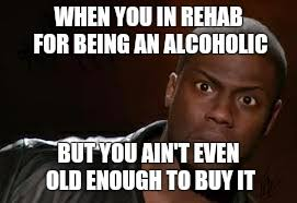 Rehab Meme - kevin hart the hell meme imgflip