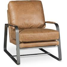 Brown Leather Accent Chair Saddle Brown Leather Accent Chair Wayne Rc Willey Furniture Store
