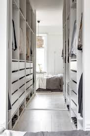clothes open storage with ikea pax love how the mirror enlarges