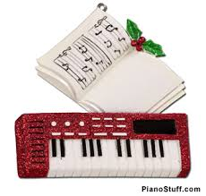 gifts piano keyboard ornament