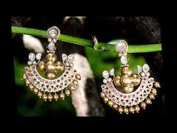 top 15 small pearls and gold balls hanging ear rings and jhumkas