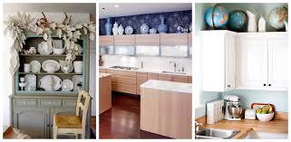 Unique Kitchen Decor Ideas Above Kitchen Cabinet Storage Ideas Amys Office