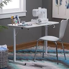 Craft Table Desk Sewing Machine Table White Resin Folding Compact Craft Table