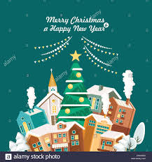 merry christmas modern merry christmas and a happy new year vector greeting card in