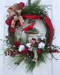 woodland christmas wreath rustic chrisrmas wreath country