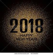 happy new year backdrop happy new year 2018 gold glitter stock vector 617195087