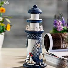 aliexpress com buy mediterranean style wooden lighthouse model