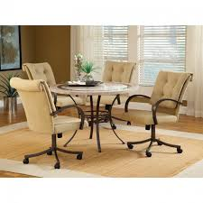 Kitchen Table Sets With Caster Chairs by Leather Dining Room Chairs With Casters Descargas Mundiales Com