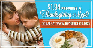 junction guests appreciate food and shelter for thanksgiving