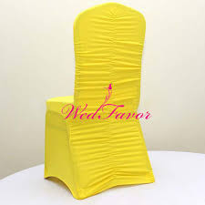 Spandex Banquet Chair Covers Online Shop Wedfavor 100pcs Yellow Ruffled Back Lycra Spandex