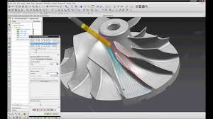 manual impeller manufacturing in nx cam 5 axis semi finish youtube