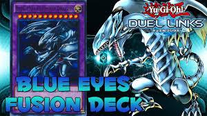 blue eyes ultimate dragon deck yu gi oh duel links fusion deck