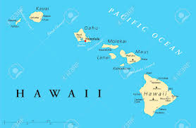 map of hawaii cities political map of hawaii islands with the capital honolulu with